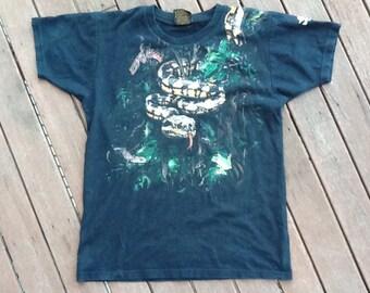 VINTAGE 90's animal print tshirt