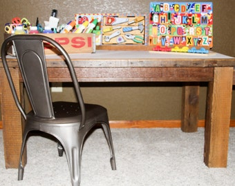 Reclaimed Barnwood Children's Craft Table by PieceofHomeDecorMN