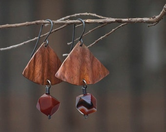 Copper earrings Rustic earrings Patina earrings Aged copper Oxidized earrings Dangle earrings Drop earrings Handmade earrings