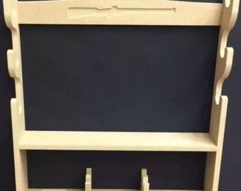 C3 Gun Rack Cabinet for 3 rifle / shotgun and a pistol rack for 4 guns & baize