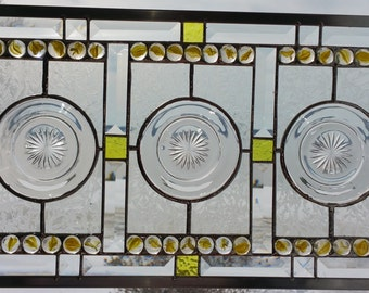 Stained Glass Panel With Small Plates