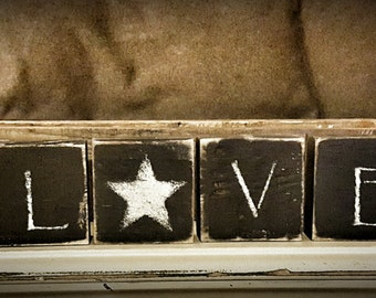 Wooden 4pc. Love Set
