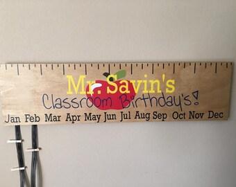Teacher Gift - Classroom Birthday Board
