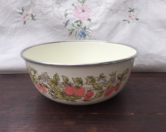 Vintage Enamel Strawberry Bowl