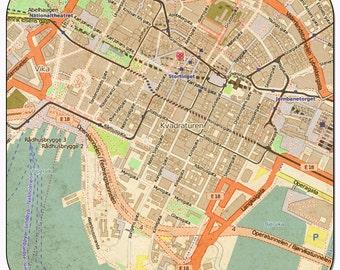 Oslo 1 Vintage Map Coasters