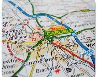 Carlisle Map Coasters