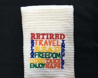 DISH TOWEL Retirement