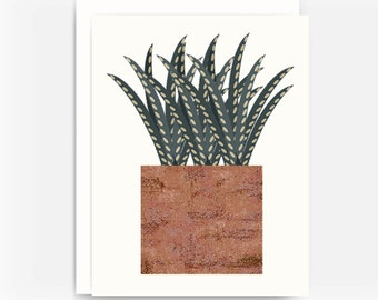 Cactus Note Card No. 3, Southwest Style Note Card, A2 Note Card, Blank Greeting Card, Choose a Single Card or Set of 4