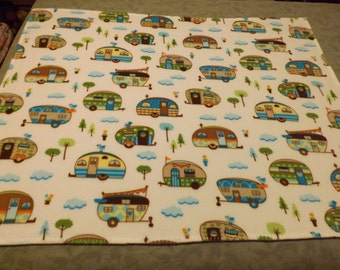 Fleece Blanket, Camp Trailers