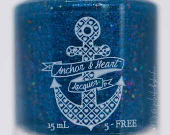 Ocean-nanigans ~ Home Collection ~ Blue Flakie Nail Polish
