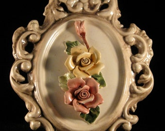 Capodimonte Italian Handmade and Handpainted Plaque