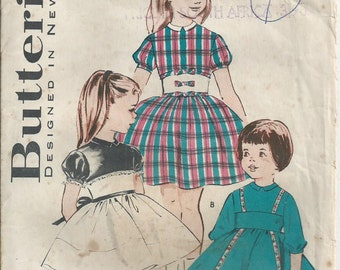 Babies' Full Skirted Party Dress - Size 1 - Butterick Pattern 9160 - 1960 - Unused