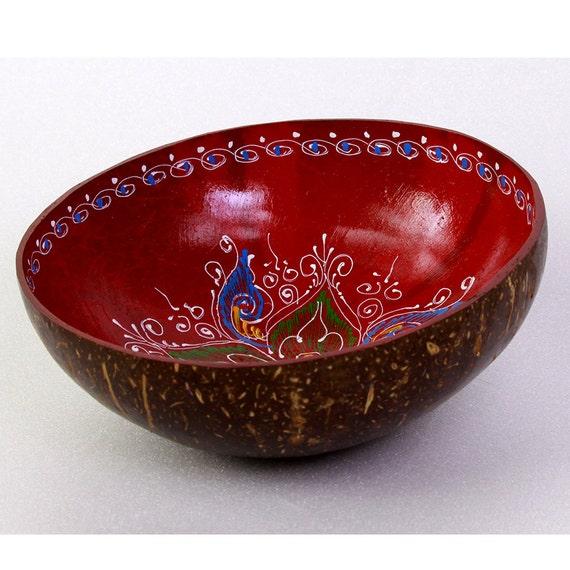 Classic Oriental Decorative Multipurpose Handmade Coconut Shell Bowl (PC 02)