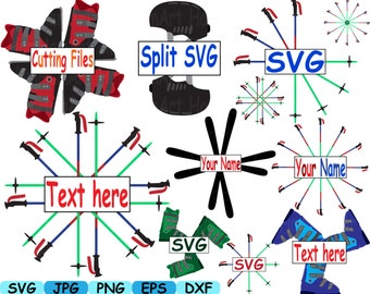 Set of skiing and snowboarding ski ice Monogram Cutting files svg dxf eps png Vinyl cut Clip Art clipart Design Instant Commercial use -157S