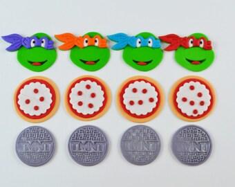 12 Edible Ninja Turtle Inspired Cupcake Toppers