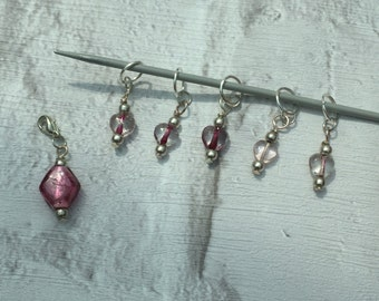 Beaded Removable Knitting Stitch Marker Set