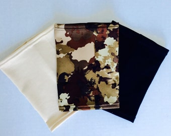 3 pack picc line covers-camouflage , beige and black covers to hide your picc line!
