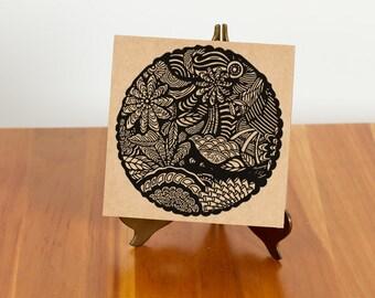 FREE SHIPPING!! Nature Inspired Mandala Note Card