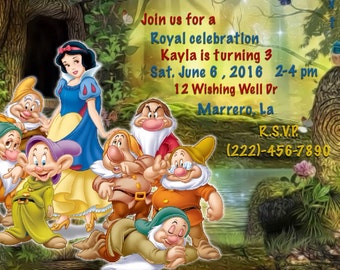 Snow White and Seven Dwarfs Invitations