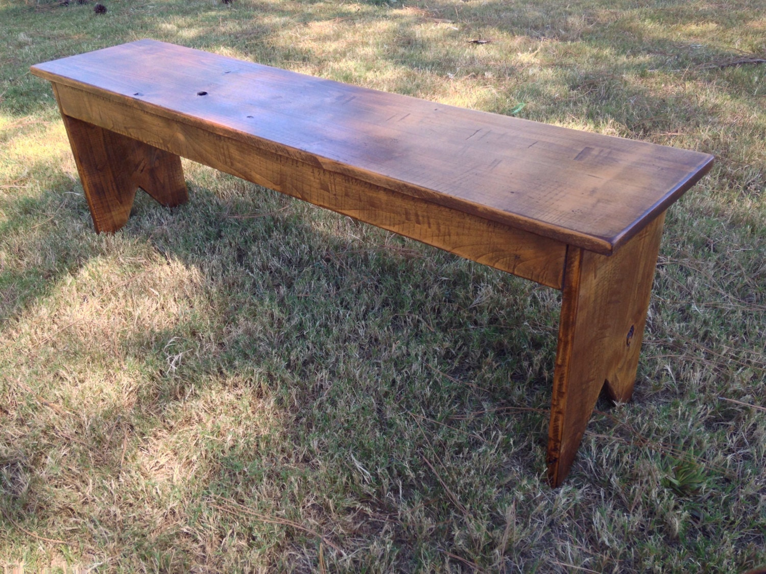 Distressed Foyer Bench : Entryway bench rustic distressed by one rusticworks