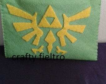 Zelda coin purse, zelda felt, zelda felt coin purse, triforce felt