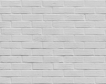 FREE EXPEDITED SHIPPING And Insurance !  New Item 4ft x 4ft White brick Wall Vinyl Backdrop / Custom Photo Prop M002