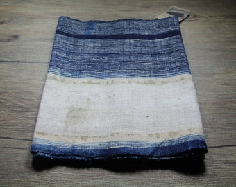 Vintage Hmong batik fabric from Hmong skirt #VB0011