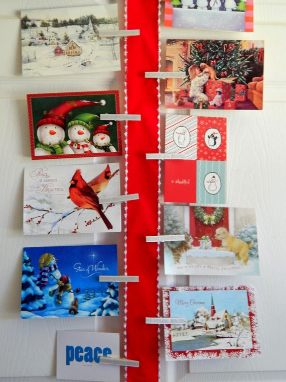 Christmas card holder and display christmas card holder for Door xmas card holders