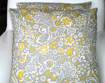 Gray Citrine Throw Pillow Covers, Grey Citrine Floral Natural, Cushions, Jen Couch Pillows, Throw Pillow One or More All Sizes