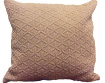 Beige neutral stone pale brown textured cushion cover