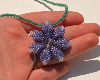 Purple Flower Pendant