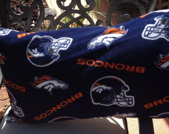 Broncos Themed Pillow