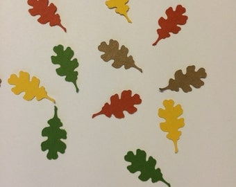 Oak Leaf Confetti Set