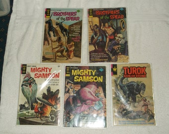 sci-fi comics-mighty samson-lot of 5-1970s-fair