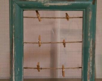 Cadre En D Tresse Avec Ficelle Et Mini Pinces Linge