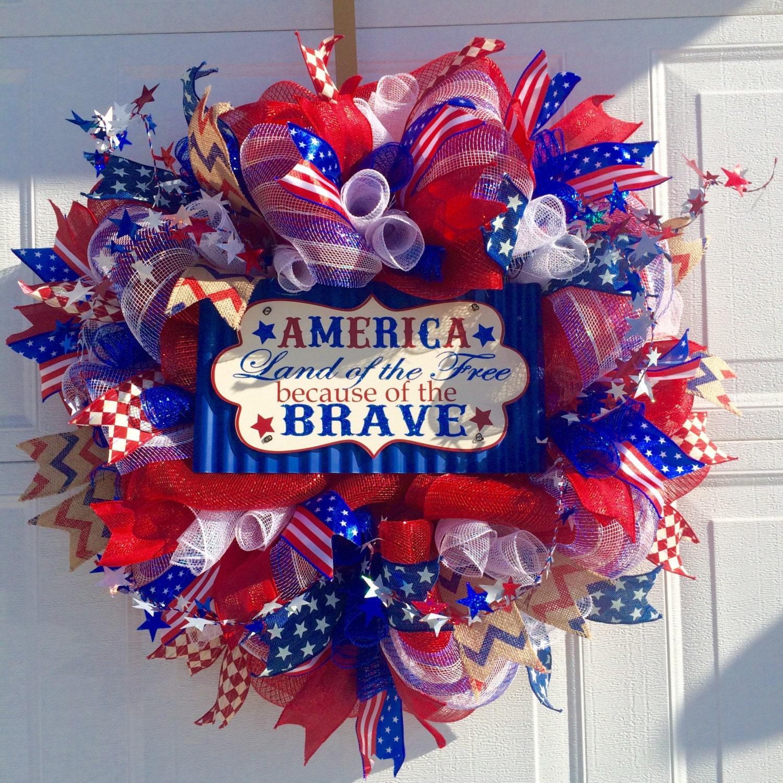 Flash Sale Patriotic Wreath Memorial Day Wreath 4th Of July