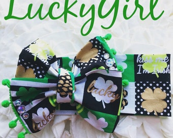 Lucky Girl headwrap Homemade.