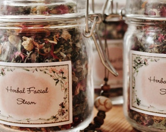 Herbal Facial Steam for Dry skin and skin glow, Glass Jar