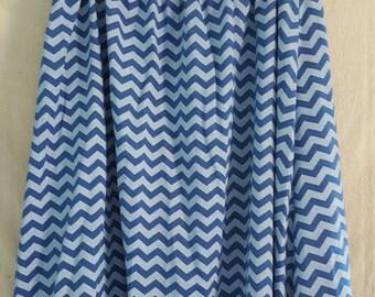 Blue Chevron Maxi Skirt