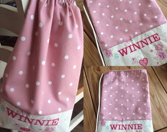 "Personalised Lined Drawstring Bag 13"" x 18"""