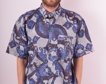 Vintage Festival Shirt Thai Silk (726)