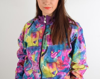 Vintage Jacket Abstract Print (1576)