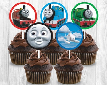 Thomas Cupcake Toppers, Printable, Instant Download, Birthday Party