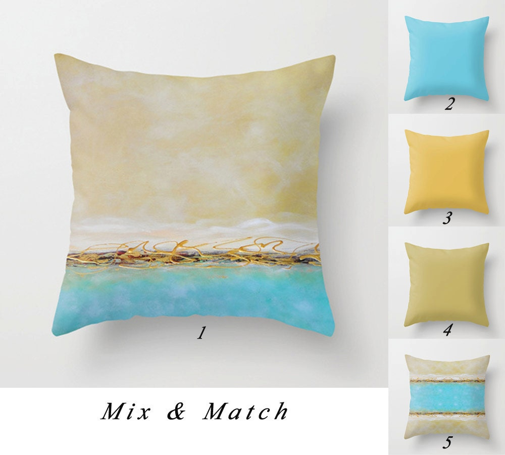 Coastal Decorative Pillow Covers : Coastal Pillow Covers Blue Throw Pillow Turquoise Pillow