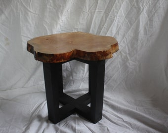Wooden stool, Silver birch cross-section