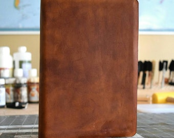 Full Grain Cowhide Leather Bible, NKJV Large Print Reference
