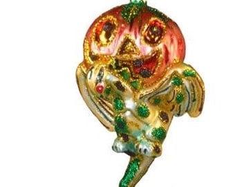 Halloween Gargoyle Glass Christmas Ornament