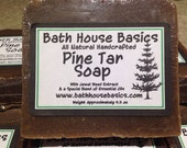 Pine Tar Soap with Jewelweed Extract and Other Essential Oils