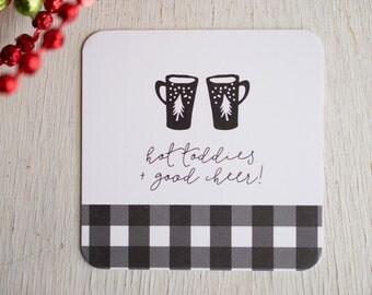 Stocking Stuffer, Paper Coasters, Holiday Gift, Gift Under 15, Gift for Girlfriend, Holiday Entertaining, Gifts Under 15, Coaster Set