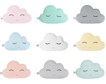FREE SHIPPING Cloud Pillow - Nine Colors - white, blue mint, pale yellow, pale pink, baby blue, turquoise, light coral, gray, Cloud Cushions